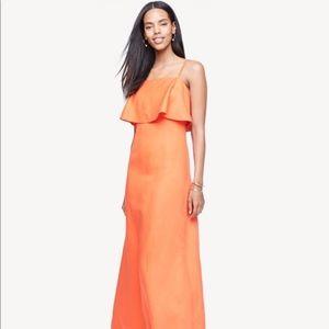 """Ann Taylor """"Sahara Sunset"""" Linen Blend Maxi Dress"""
